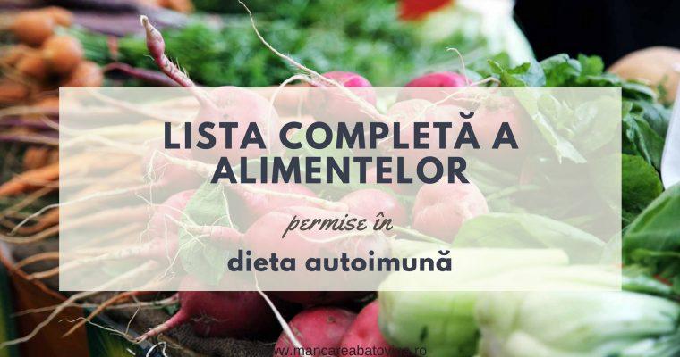 Lista completă a alimentelor permise în dieta autoimună