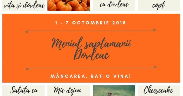 Meniul săptămânii 1-7 Octombrie Dovleac