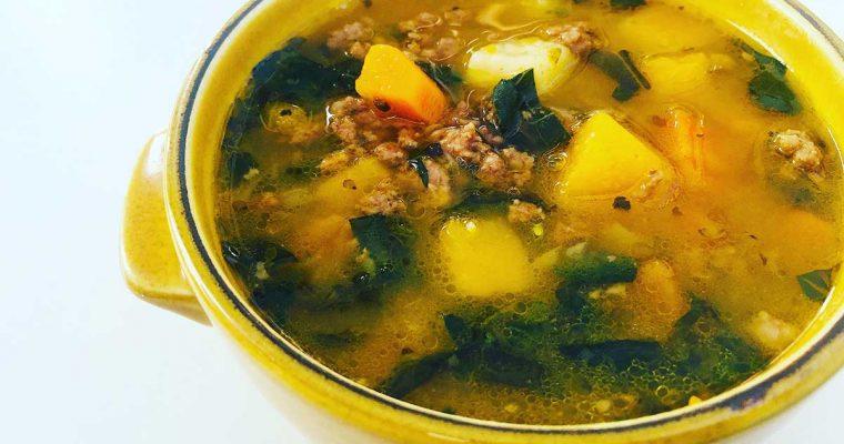 Supă de toamnă cu vită și dovleac